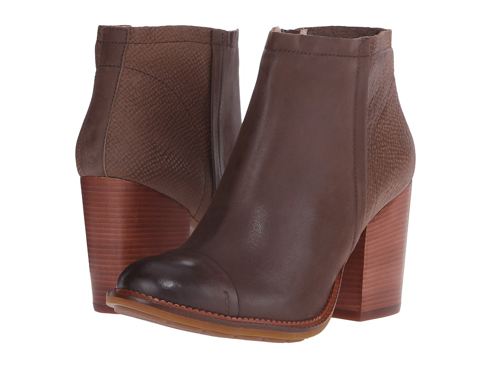 Hush Puppies - Axelle Dewey (Taupe Leather) Women's Zip Boots