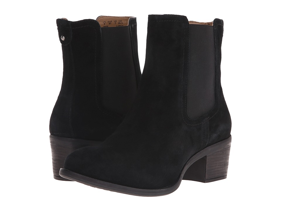Hush Puppies - Landa Nellie (Black Suede) Women's Pull-on Boots