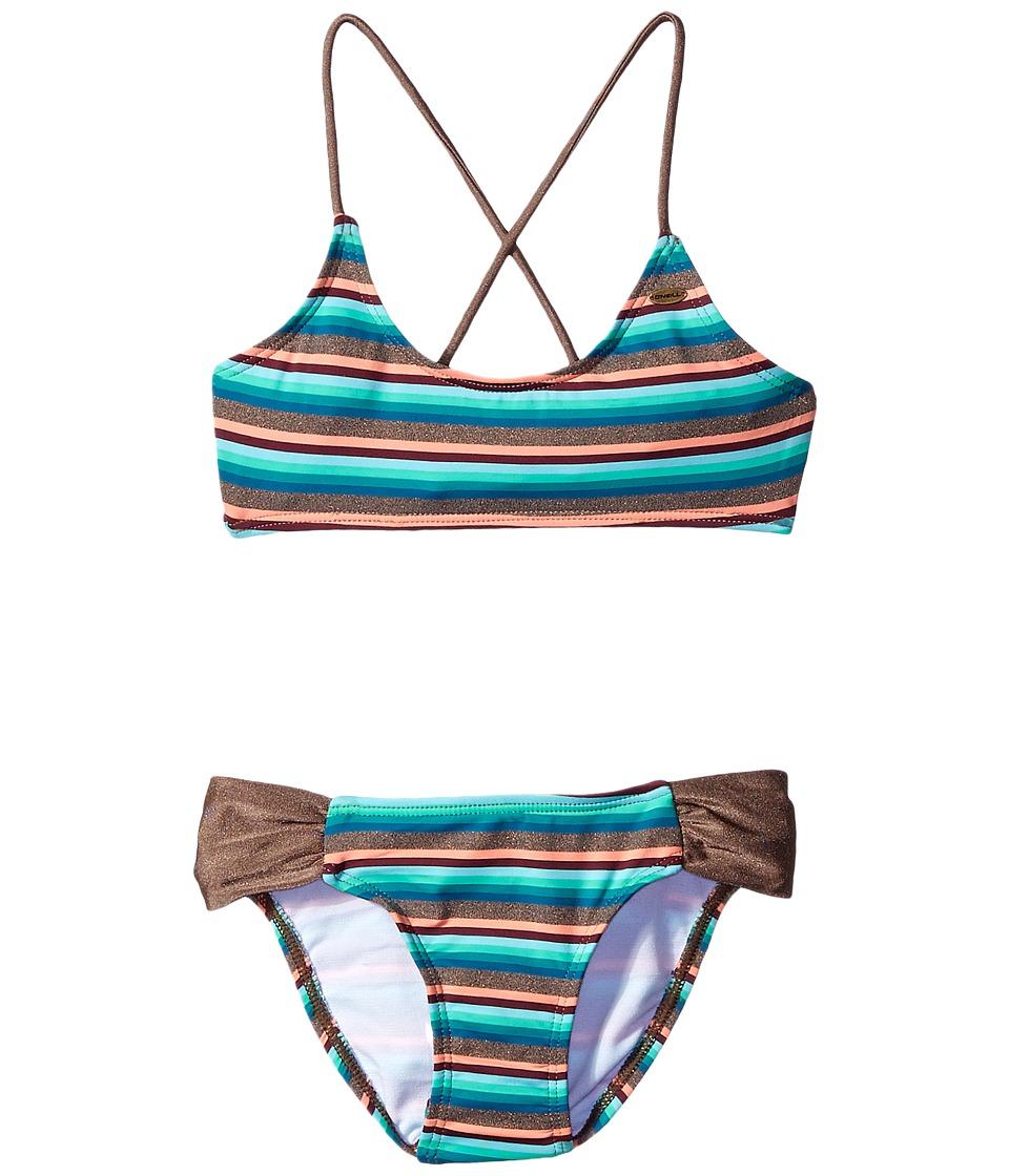 O'Neill Kids - Sea Stripe Halter Swim Set (Little Kids/Big Kids) (Multi) Girl's Swimwear
