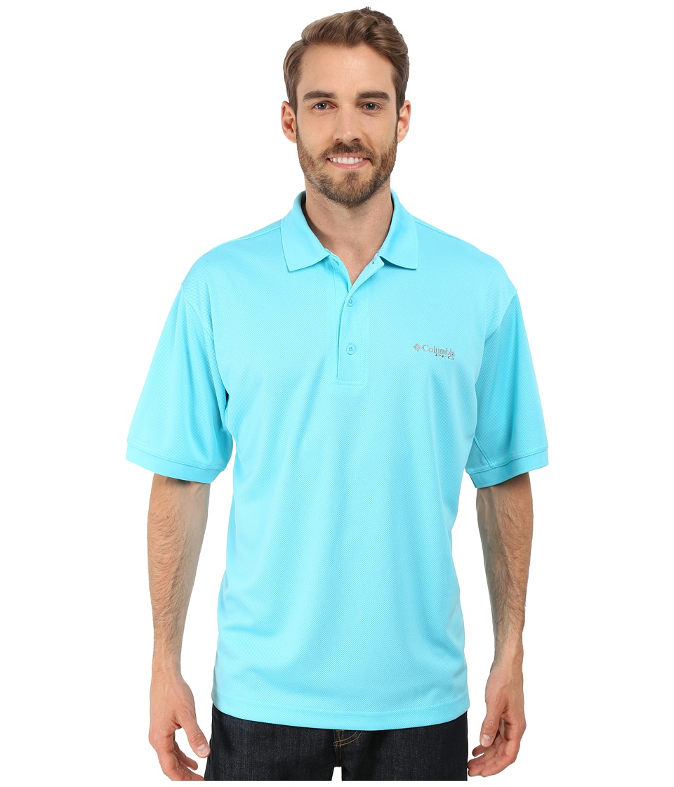 Columbia - Perfect Cast Polo (Opal Blue) Men's Short Sleeve Pullover