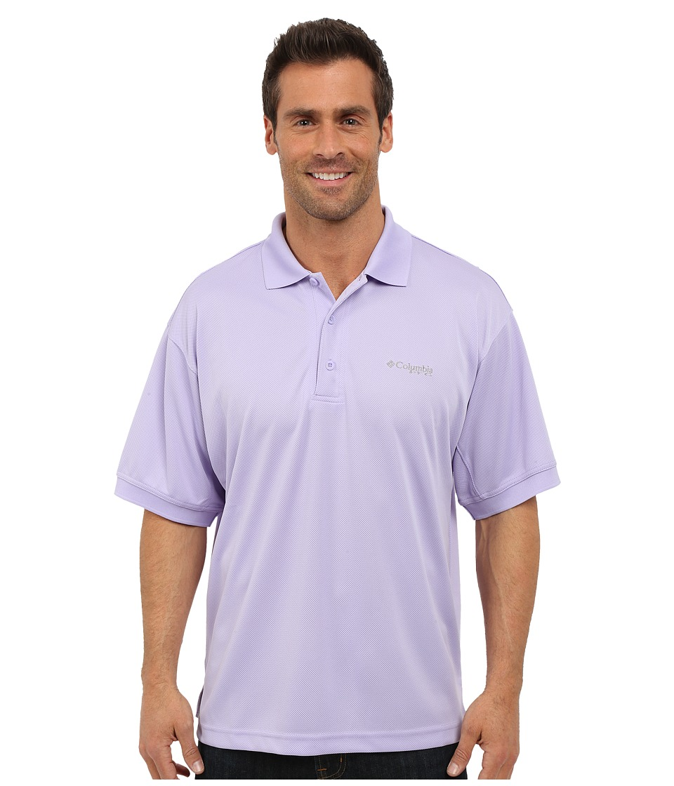 Columbia - Perfect Cast Polo (Whitened Violet) Men's Short Sleeve Pullover