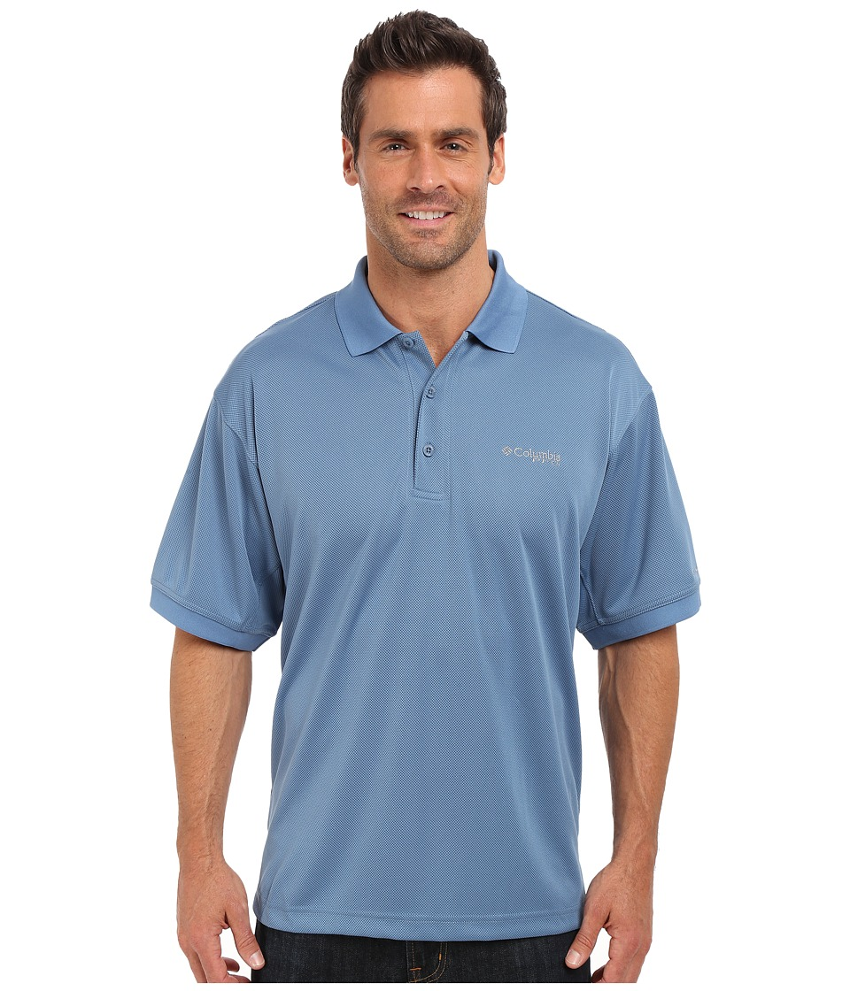 Columbia - Perfect Cast Polo (Steel) Men's Short Sleeve Pullover