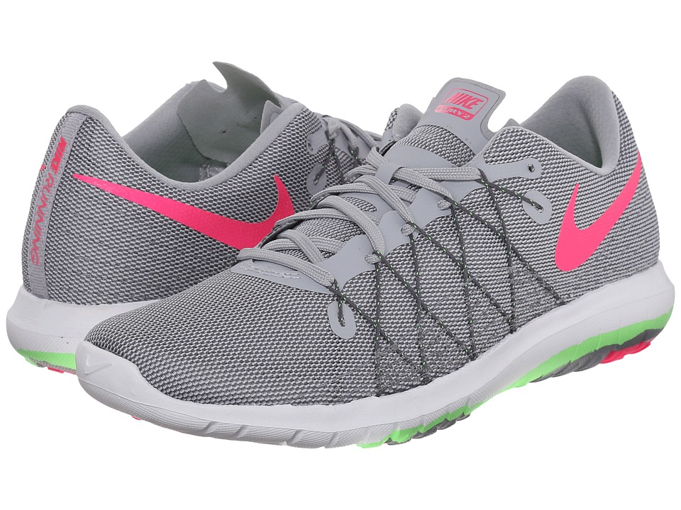 Nike - Flex Fury 2 (Wolf Grey/Voltage Green/Dark Grey/Hyper Pink) Women's Running Shoes