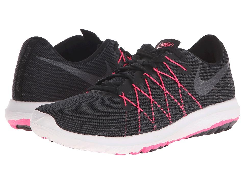 Nike - Flex Fury 2 (Black/Hyper Pink/Anthracite/Metallic Hematite) Women's Running Shoes