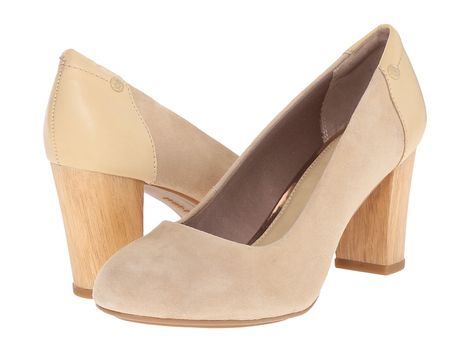 Hush Puppies - Sisany Pump (Light Tan Suede) High Heels
