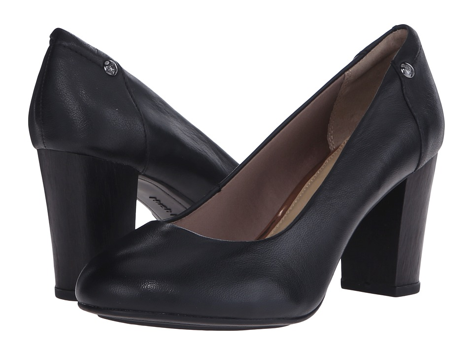 Hush Puppies - Sisany Pump (Black Smooth Leather) High Heels
