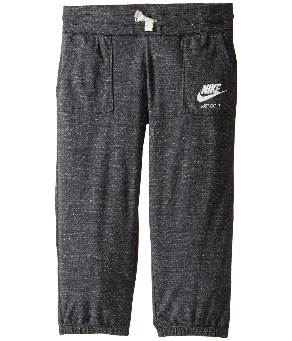 Nike Kids - Sportswear Gym Vintage Capri (Little Kids/Big Kids) (Anthracite/Sail) Girl's Capri