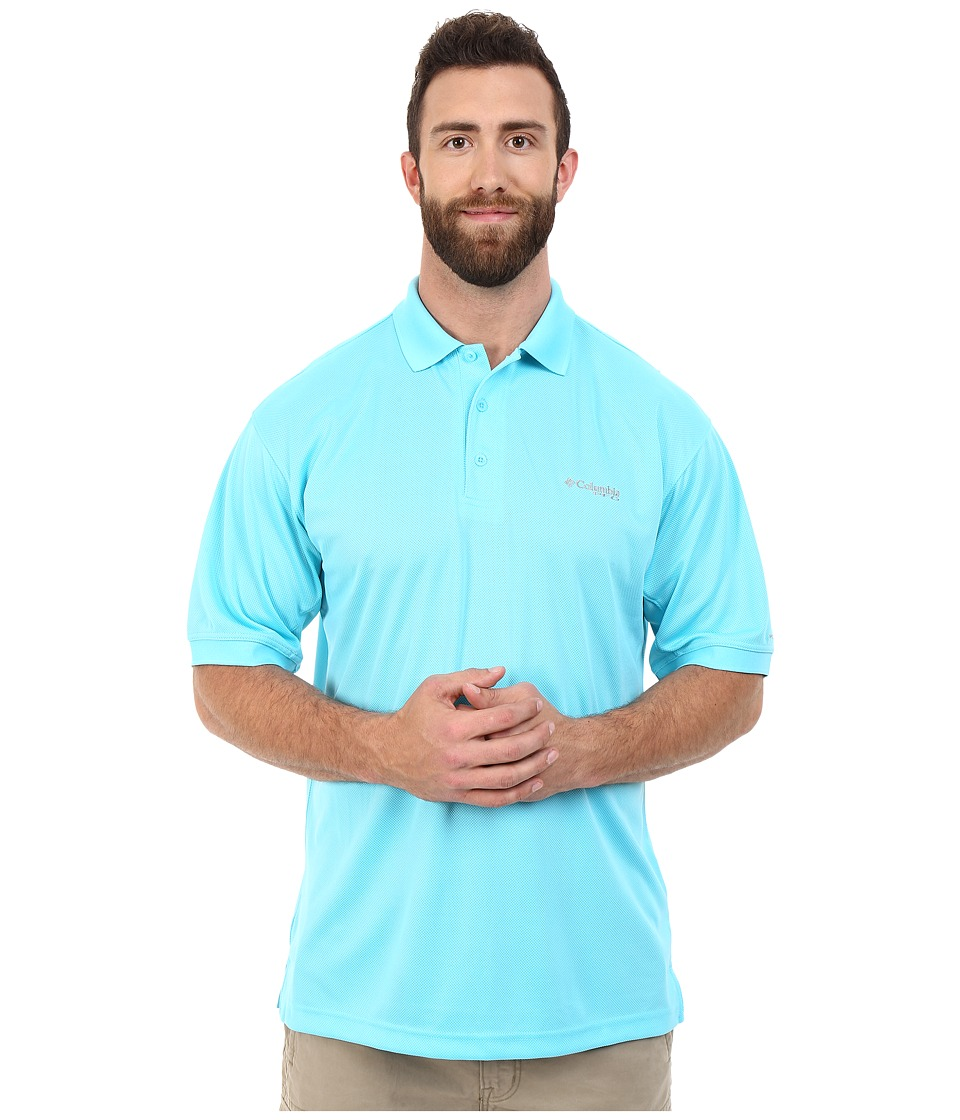 Columbia - Perfect Cast Polo - Extended (Opal Blue) Men's Clothing