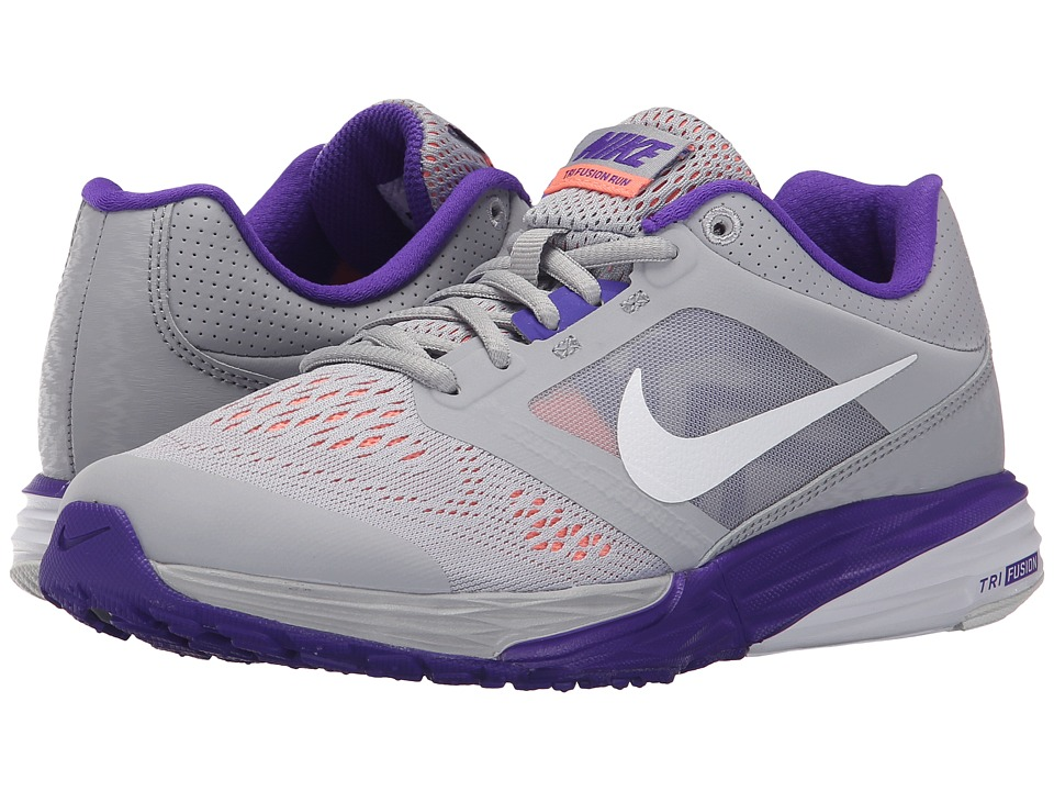 Nike - Tri Fusion Run (Wolf Grey/Fierce Purple/Atomic Pink/White) Women's Running Shoes