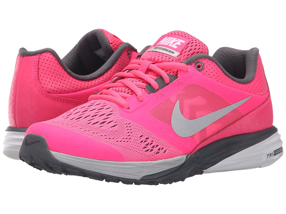Nike - Tri Fusion Run (Hyper Pink/Dark Grey/White/Metallic Platinum) Women's Running Shoes