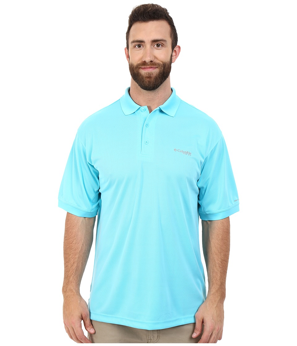 Columbia - Perfect Cast Polo - Tall (Opal Blue) Men's Short Sleeve Pullover
