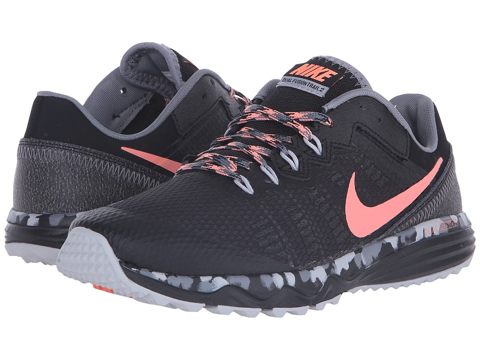 Nike - Dual Fusion Trail 2 (Black/Cool Grey/Wolf Grey/Atomic Pink) Women's Running Shoes