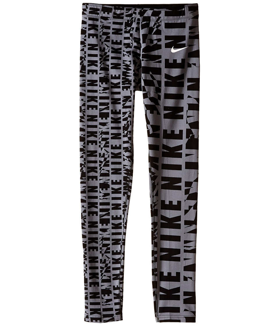 Nike Kids - Club Printed Legging (Little Kids/Big Kids) (Cool Grey/Black/Black/White) Girl's Casual Pants