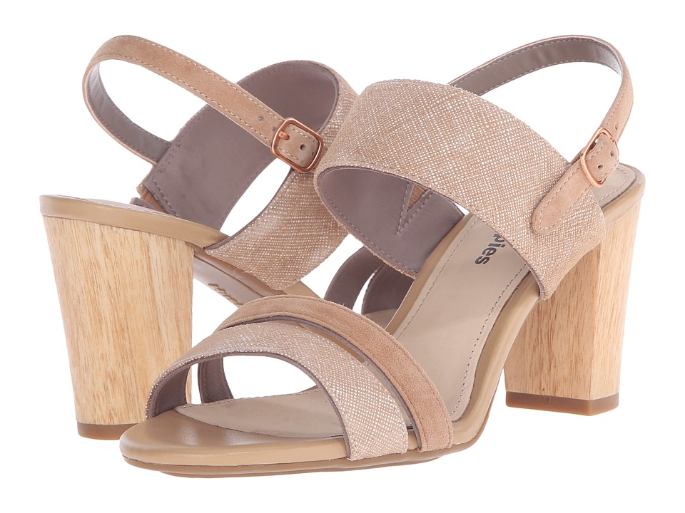 Hush Puppies - Molly Malia (Tan Leather Scratched Leather) Women's 1-2 inch heel Shoes