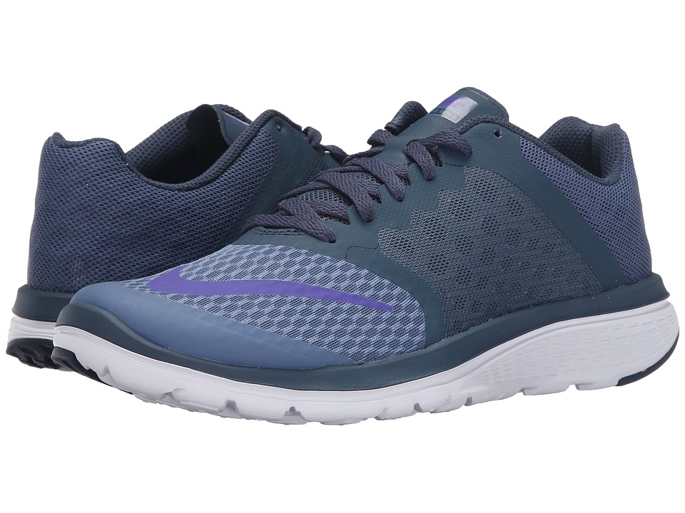 Nike - FS Lite Run 3 (Ocean Fog/Squadron Blue/White/Fierce Purple) Women's Running Shoes