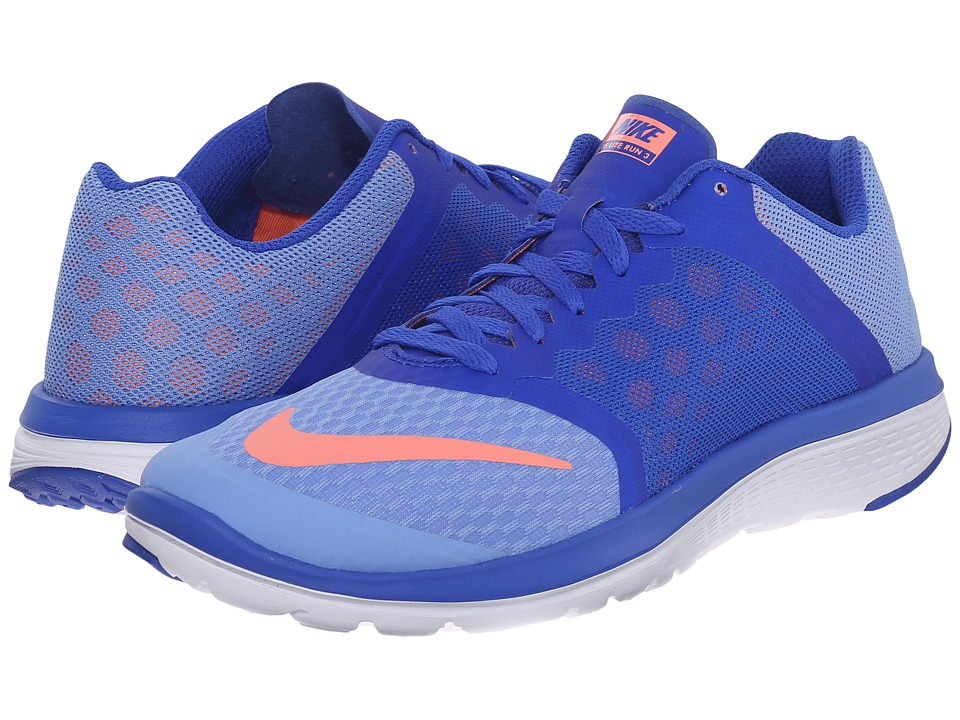 Nike - FS Lite Run 3 (Chalk Blue/Racer Blue/White/Atomic Pink) Women's Running Shoes