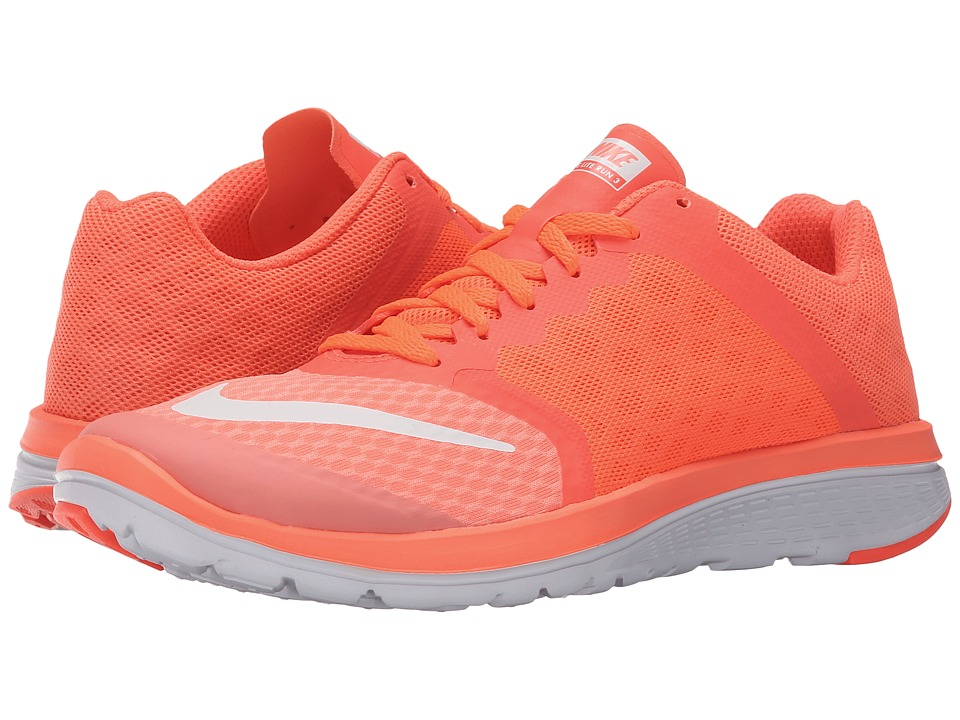 Nike - FS Lite Run 3 (Atomic Pink/Hyper Orange/White/White) Women's Running Shoes