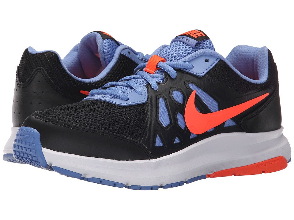 Nike - Dart 11 (Black/Chalk Blue/White/Hyper Orange) Women's Running Shoes