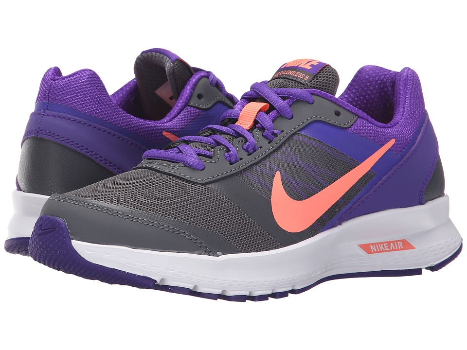 Nike - Air Relentless 5 (Dark Grey/Fierce Purple/White/Atomic Pink) Women's Running Shoes