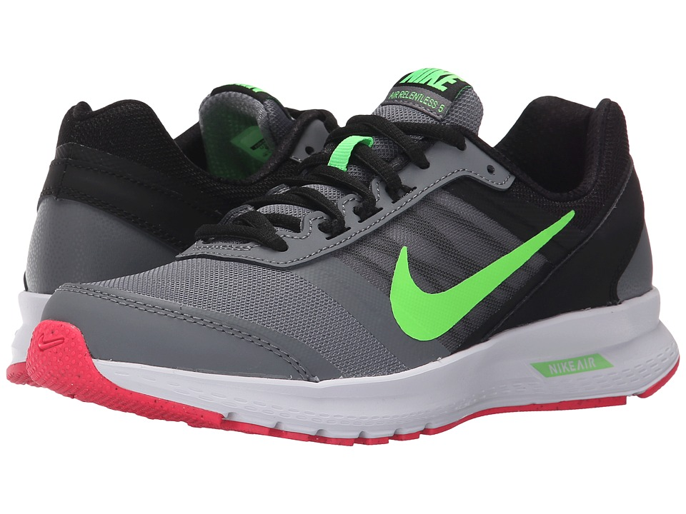 Nike - Air Relentless 5 (Cool Grey/Black/Hyper Pink/Voltage Green) Women's Running Shoes