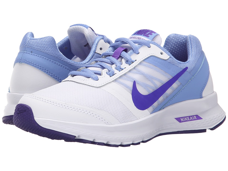 Nike - Air Relentless 5 (White/Chalk Blue/White/Fierce Purple) Women's Running Shoes