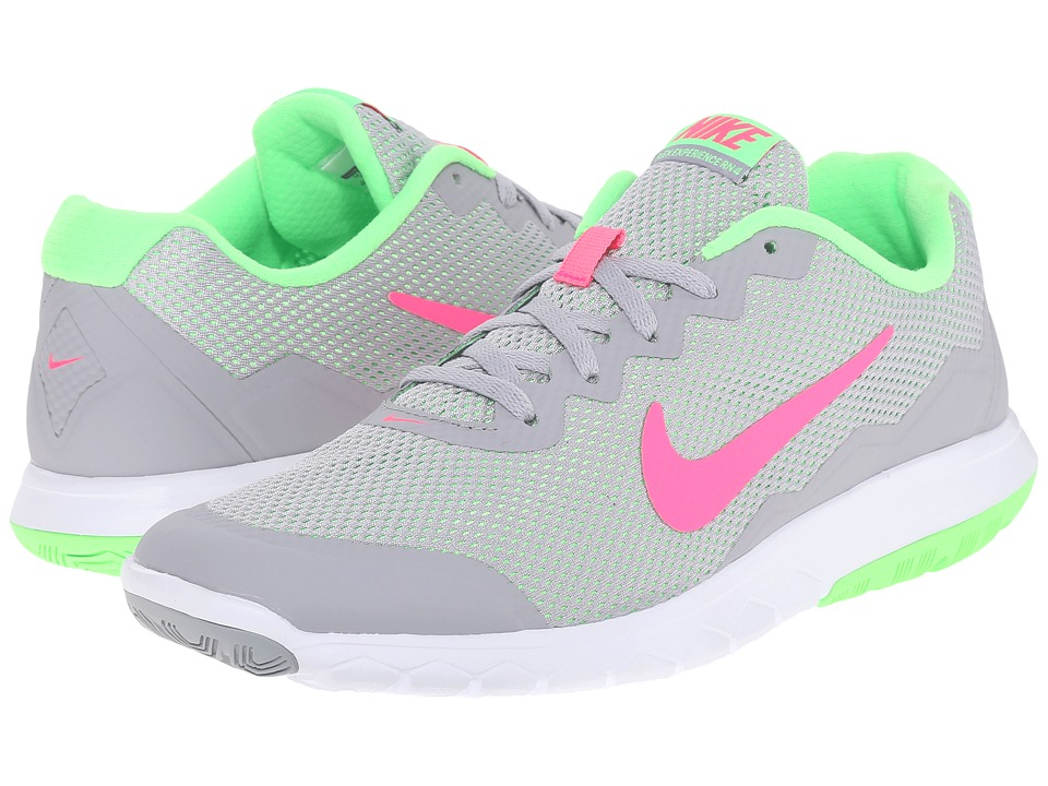 Nike - Flex Experience Run 4 (Wolf Grey/Voltage Green/White/Hyper Pink) Women
