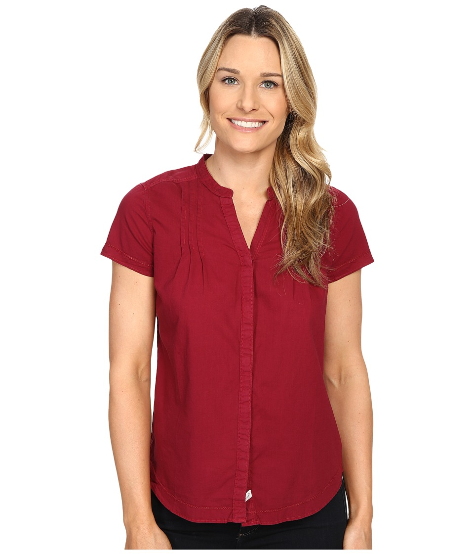 Woolrich - Clare Woods Short Sleeve Shirt (Wildberry) Women's Short Sleeve Button Up