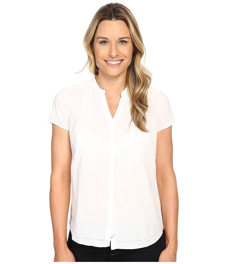 Woolrich - Clare Woods Short Sleeve Shirt (White) Women's Short Sleeve Button Up