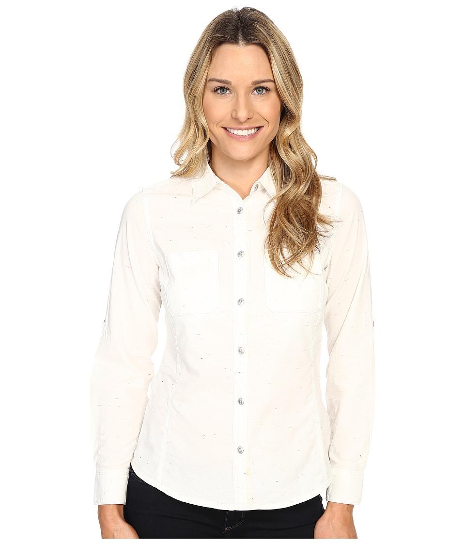 Woolrich - Conundrum Solid Convertible Shirt (Ecru) Women's Short Sleeve Button Up