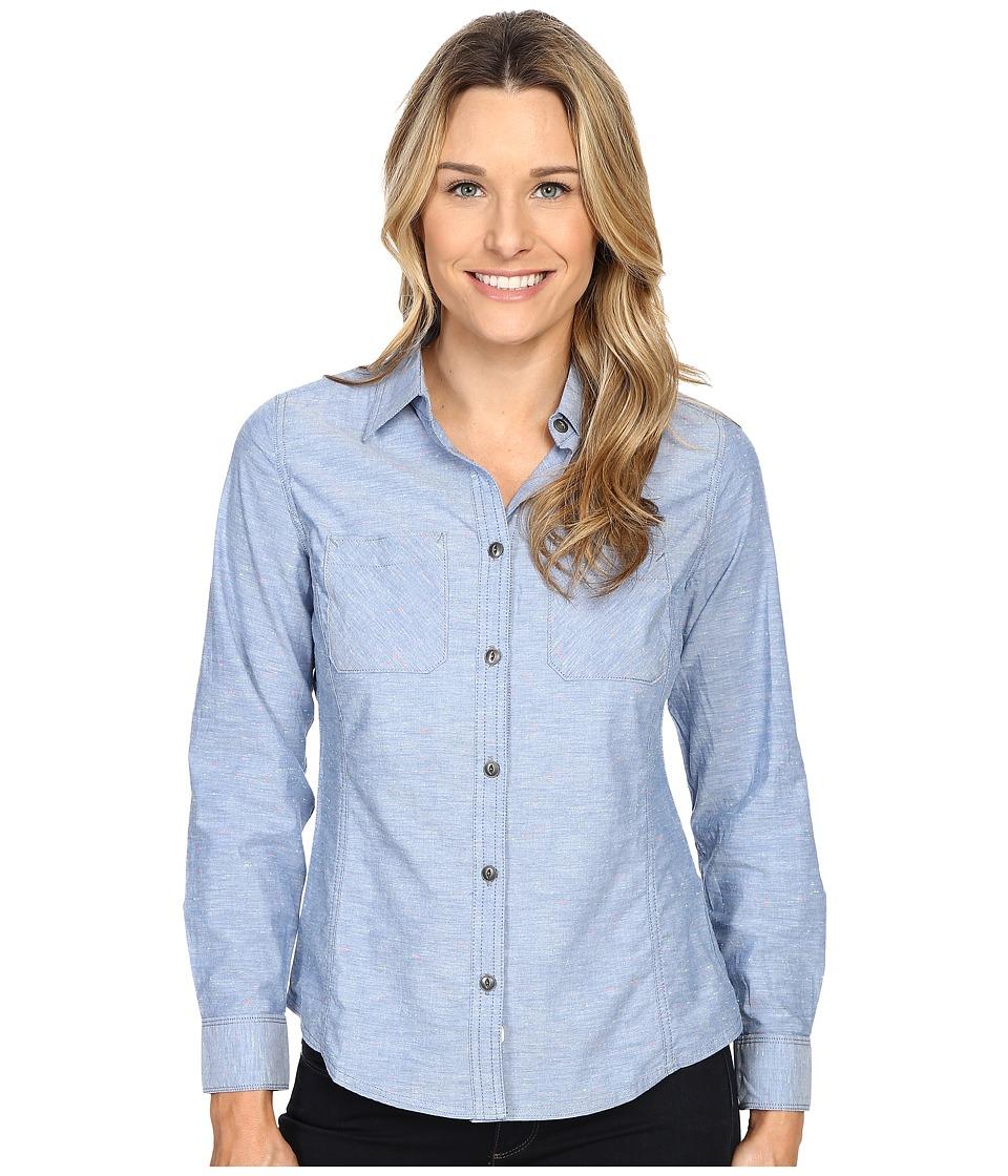 Woolrich - Conundrum Solid Convertible Shirt (Indigo) Women's Short Sleeve Button Up