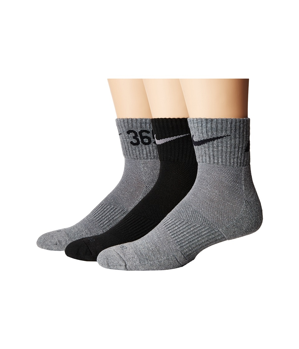 Nike - Nike Dri-Fit Fly Rise Quarter 3-Pack (Multi-Color 2) Quarter Length Socks Shoes