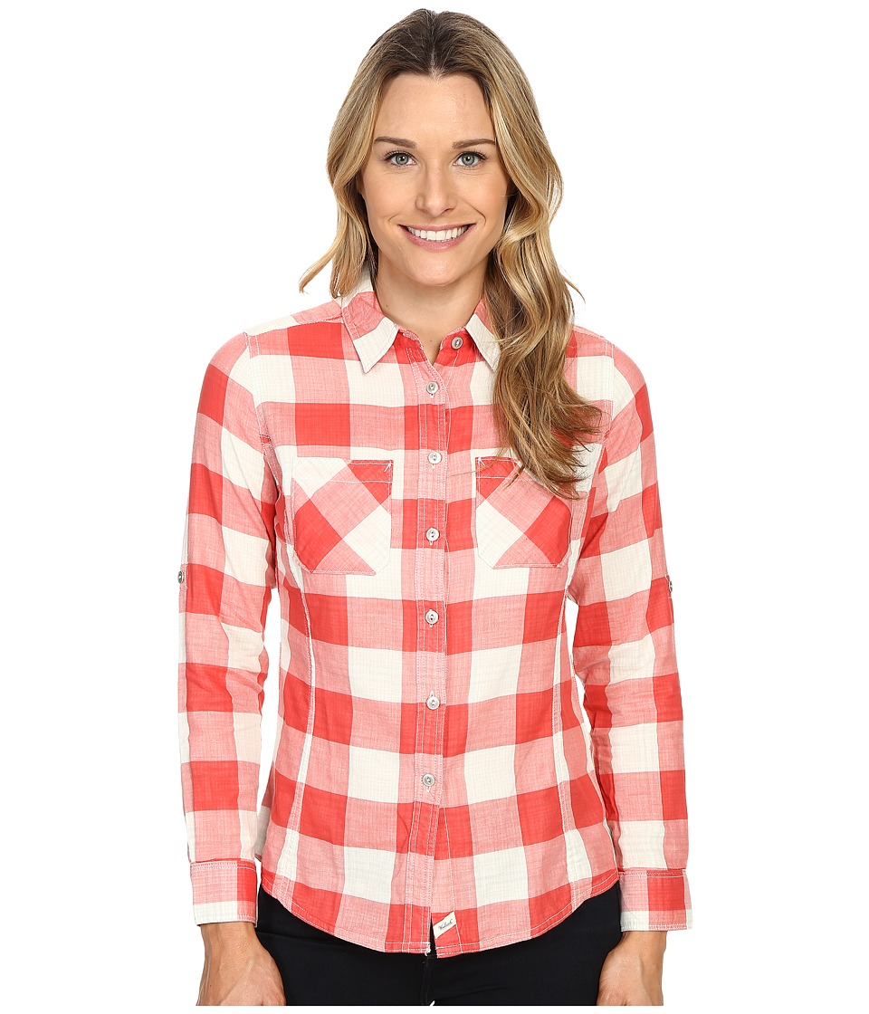 Woolrich - Conundrum Long Sleeve Shirt (Hot Guava) Women's Long Sleeve Button Up