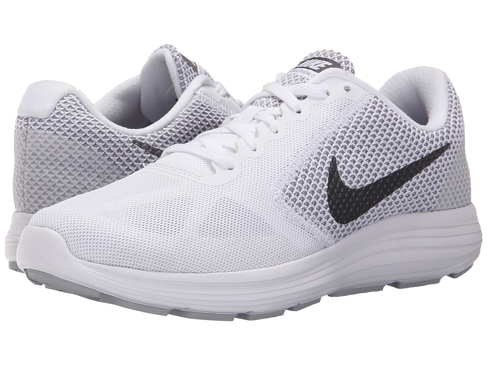 Nike - Revolution 3 (White/Wolf Grey/Metallic Dark Grey) Women's Running Shoes