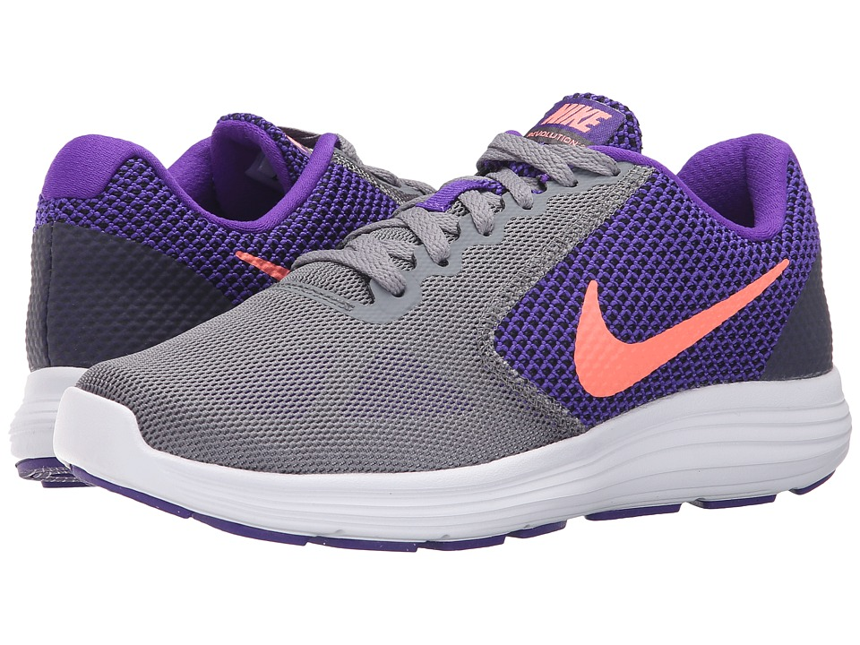 Nike - Revolution 3 (Fierce Purple/Cool Grey/Black/Atomic Pink) Women's Running Shoes