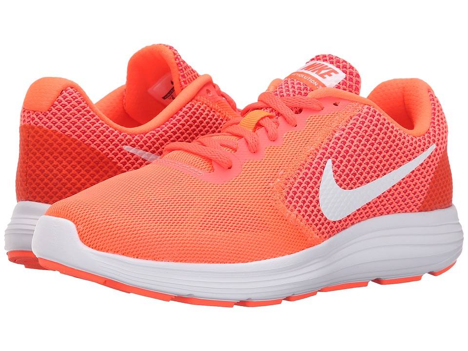Nike - Revolution 3 (Hyper Orange/Atomic Pink/Bright Crimson/White) Women's Running Shoes