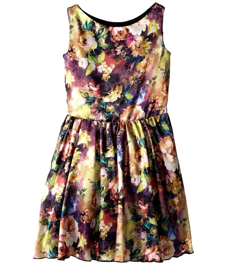fiveloaves twofish - Painted Lady Dress (Little Kids/Big Kids) (Purple) Girl's Dress