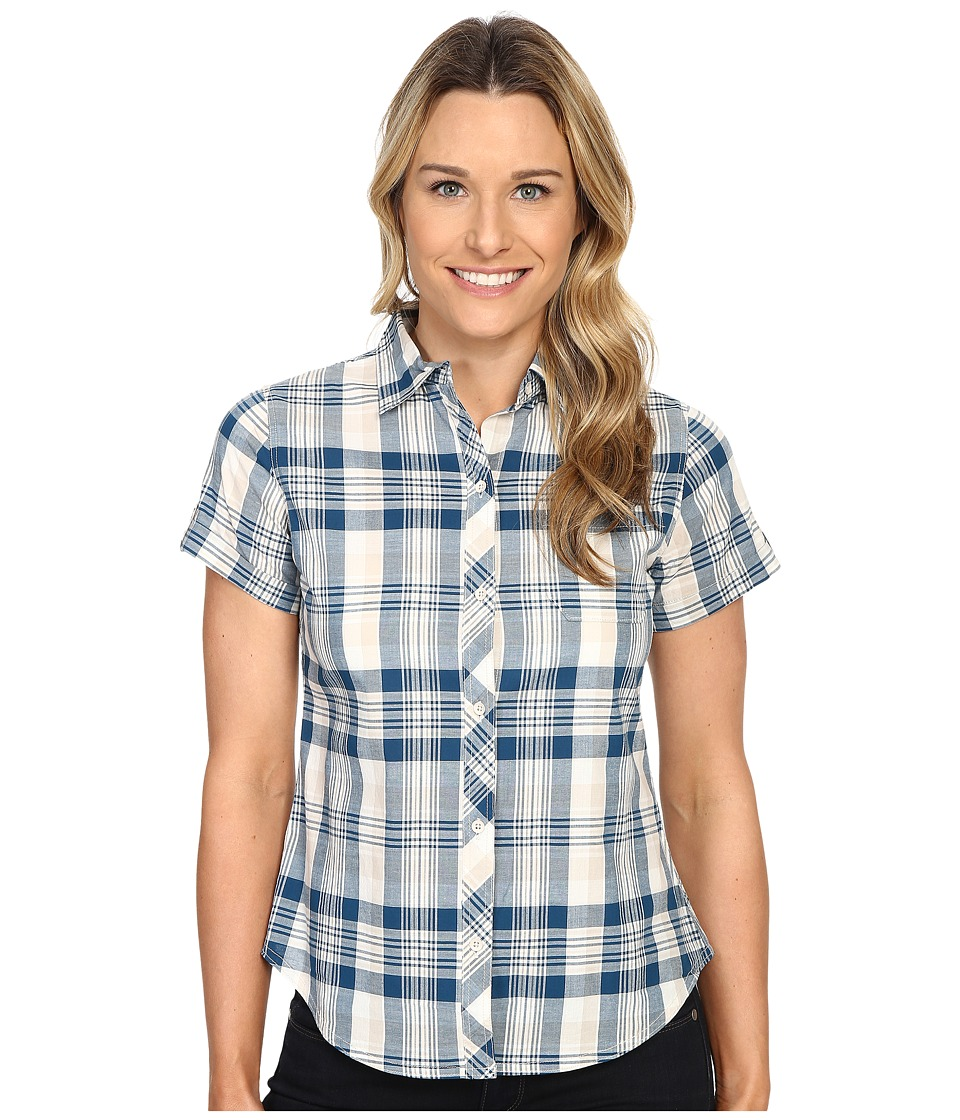 Woolrich - Twin Lakes Shirt (Atlantic) Women's Short Sleeve Button Up