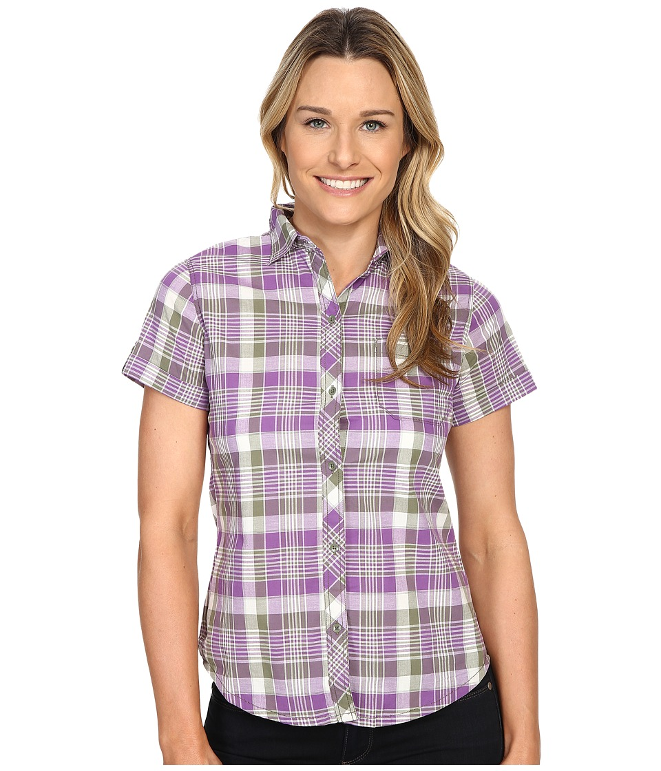 Woolrich - Twin Lakes Shirt (Grape) Women's Short Sleeve Button Up