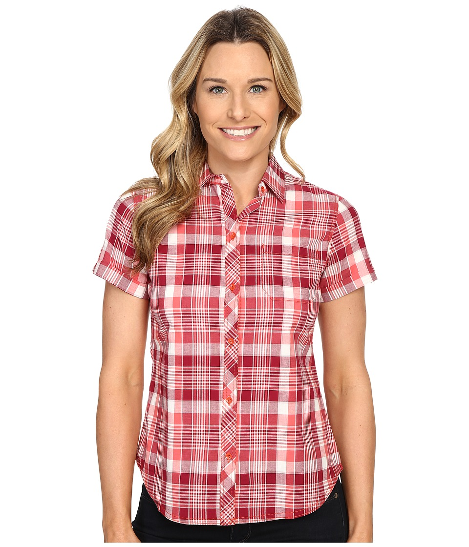 Woolrich - Twin Lakes Shirt (Hot Guava) Women's Short Sleeve Button Up