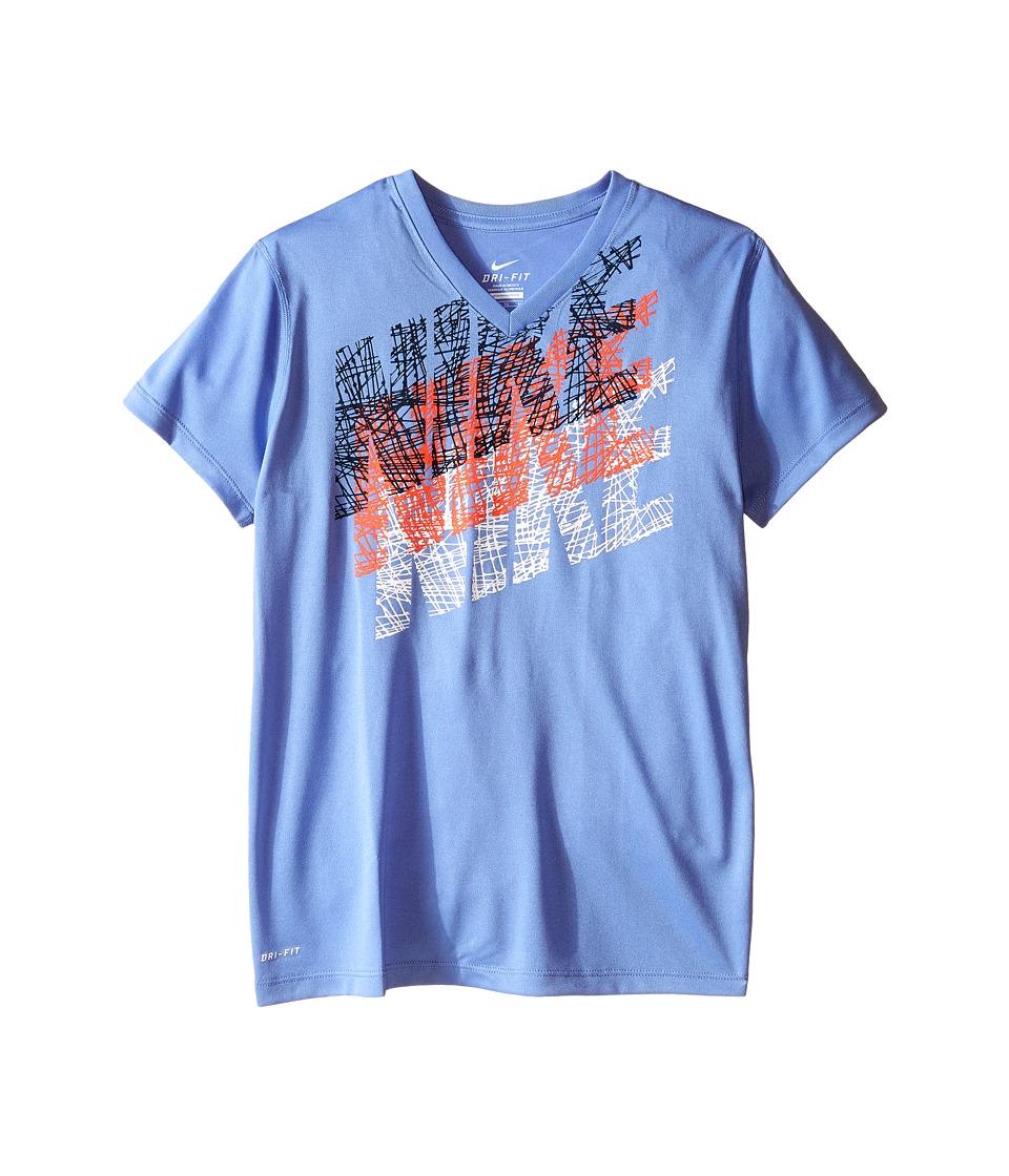 Nike Kids - Tracer Tee (Little Kids/Big Kids) (Chalk Blue) Girl's T Shirt