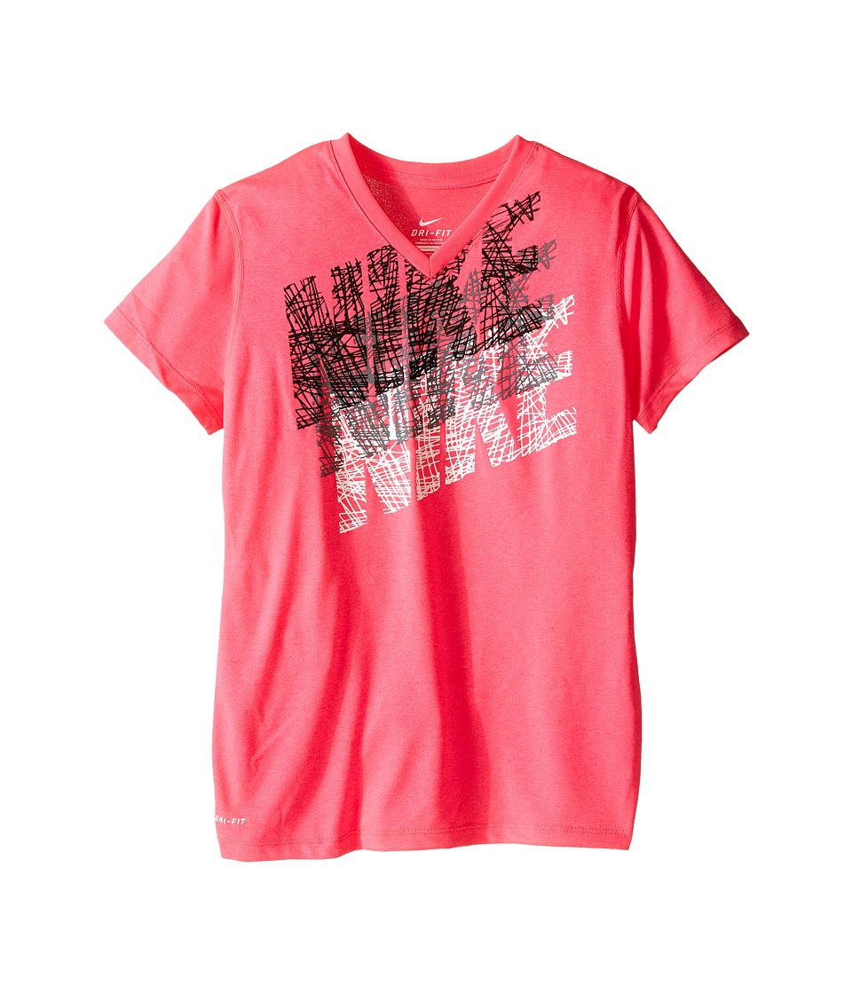 Nike Kids - Tracer Tee (Little Kids/Big Kids) (Hyper Pink) Girl's T Shirt
