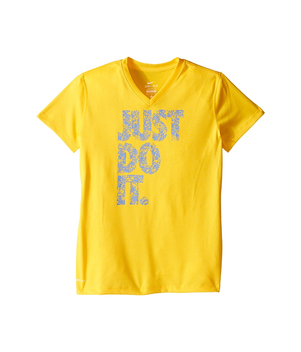 Nike Kids - Legend Just Do It Printed TD Tee (Little Kids/Big Kids) (Varsity Maize) Girl's T Shirt