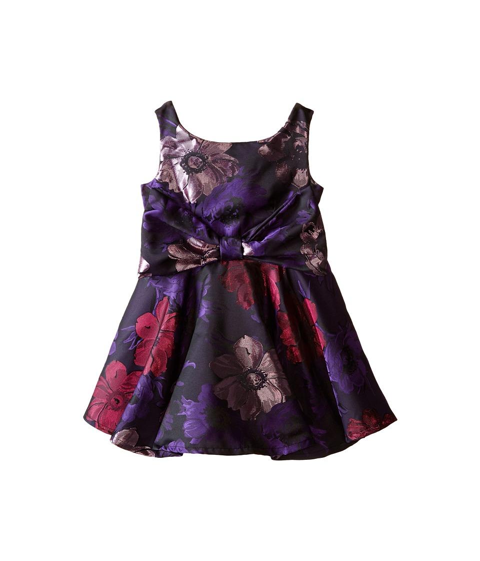 fiveloaves twofish - Oui Oui Dress (Toddler/Little Kids) (Purple Floral) Girl's Dress
