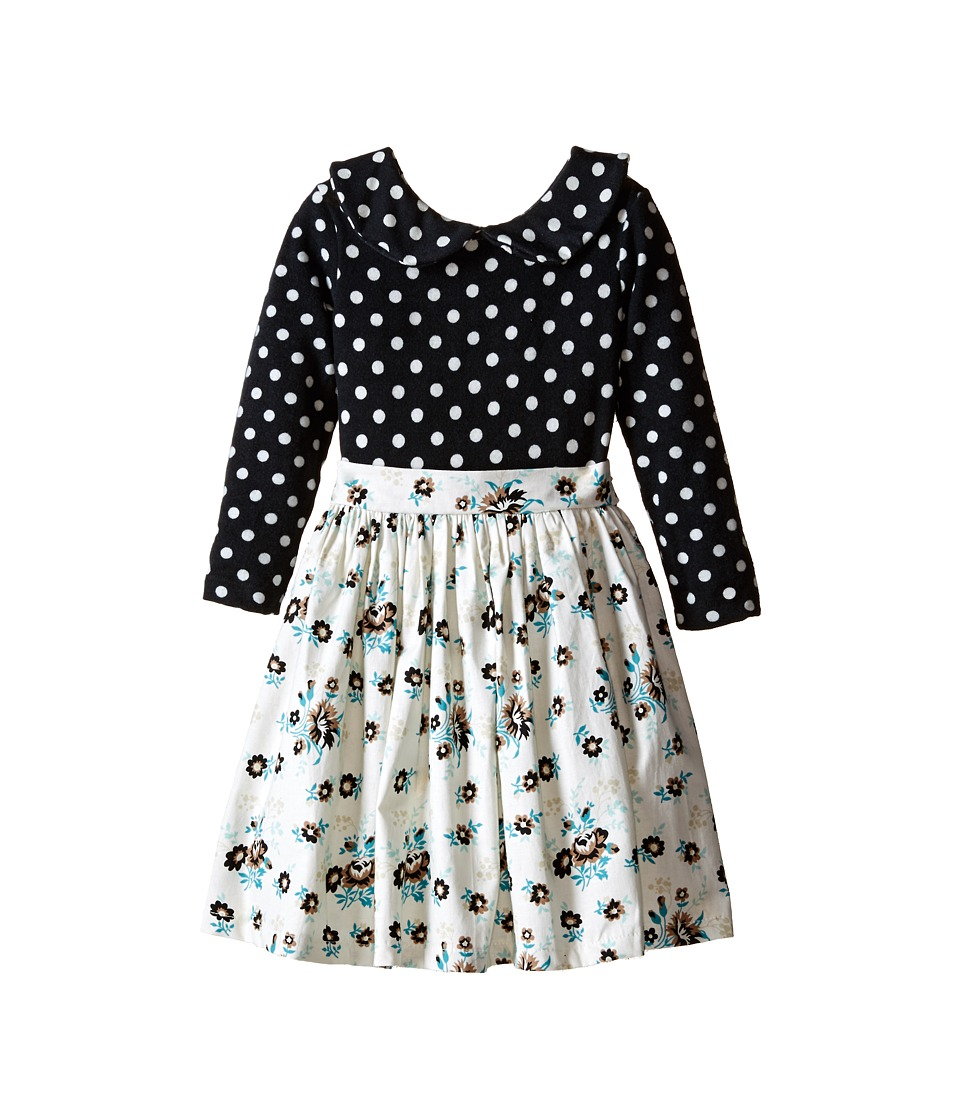 fiveloaves twofish - Le Petite Saloon Dress (Toddler/Little Kids) (Black/Multi) Girl's Dress