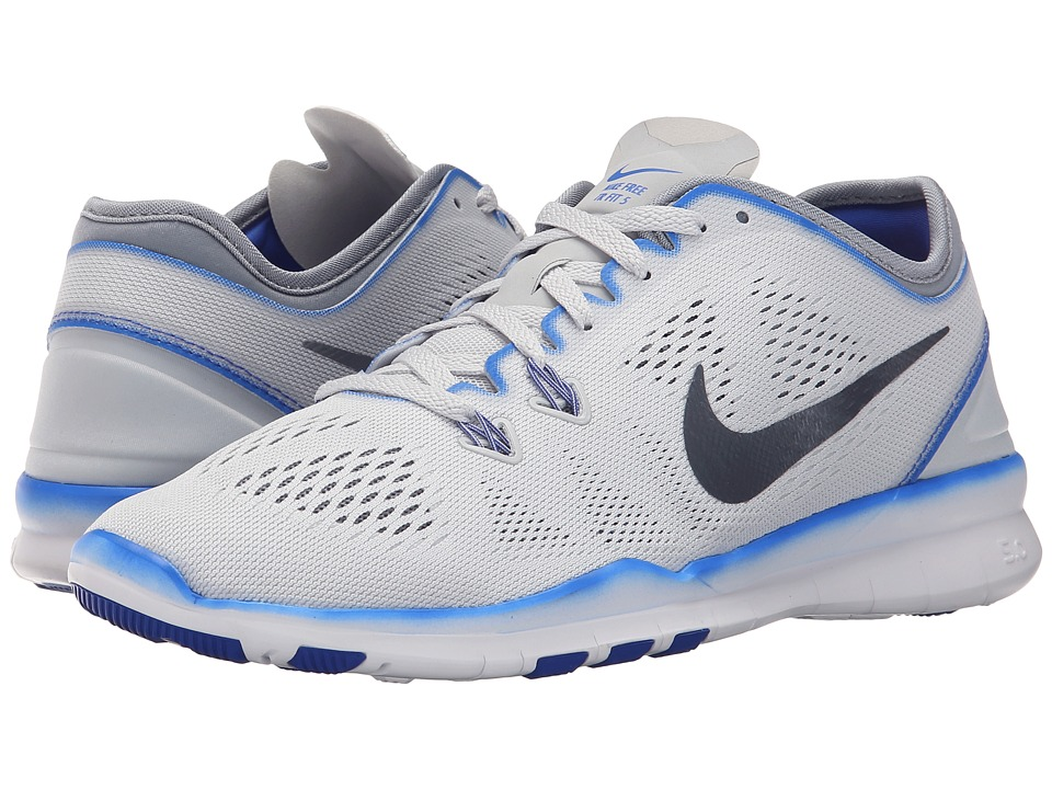 Nike - Free 5.0 TR Fit 5 (Pure Platinum/Racer Blue/White/Stealth) Women's Cross Training Shoes