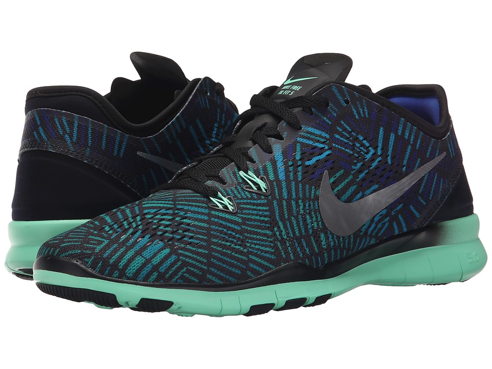 Nike - Free 5.0 TR Fit 5 PRT (Black/Green Glow/Racer Blue/Black) Women's Cross Training Shoes