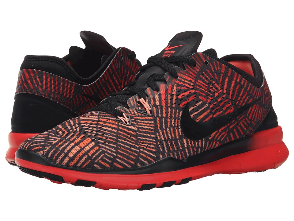 Nike - Free 5.0 TR Fit 5 PRT (Black/Bright Crimson/Atomic Pink/Black) Women's Cross Training Shoes