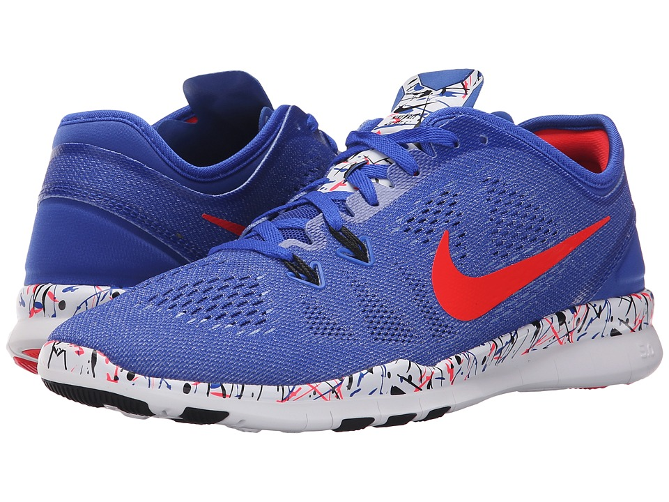Nike - Free 5.0 TR Fit 5 PRT (Racer Blue/Black/White/Bright Crimson) Women's Cross Training Shoes