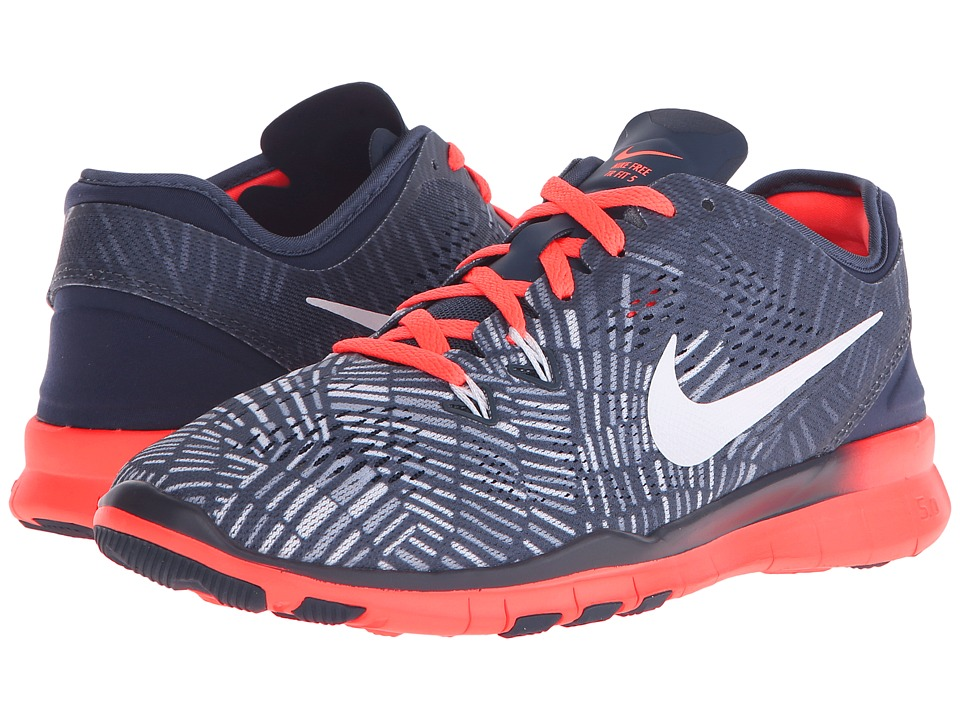 Nike - Free 5.0 TR Fit 5 PRT (Squadron Blue/Bright Mango/Blue Grey/White) Women's Cross Training Shoes