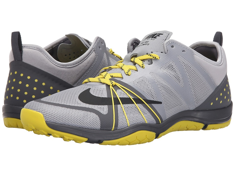 Nike - Free Cross Compete (Wolf Grey/Dark Grey/Opti Yellow/Black) Women's Cross Training Shoes